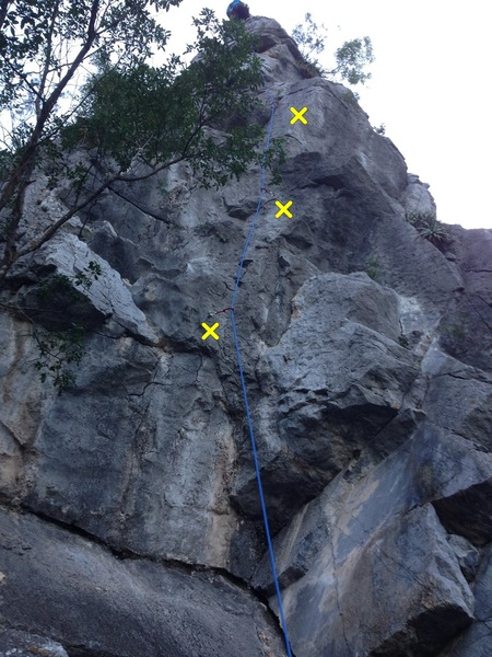 Starting sequence of Run for the Border, which includes a high and intimidating first clip, even if you have jugs. After that, it&@POUND@39@SEMICOLON@s some of the sharpest limestone around!