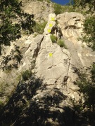 Rock Climbing Photo: The obvious pillar start for Treasure of the Sierr...
