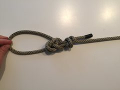 Bowline tied off on the standing end
