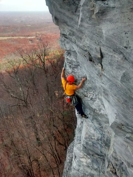Rock Climbing Photo: Daniel Chambo getting into the spice on Spice.