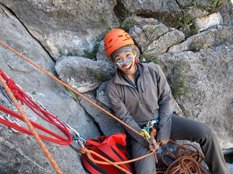 Rock Climbing Photo: Gotta love a nice seated belay from the top of pit...