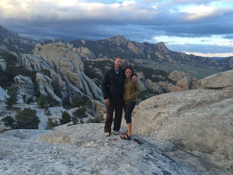 Rock Climbing Photo: Alisa and me at City of Rocks 2014