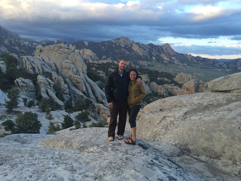 Alisa and me at City of Rocks 2014