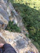 Rock Climbing Photo: Kong following the 4th pitch of Nok Kao