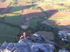 Rock Climbing Photo: Pleum approaching the summit