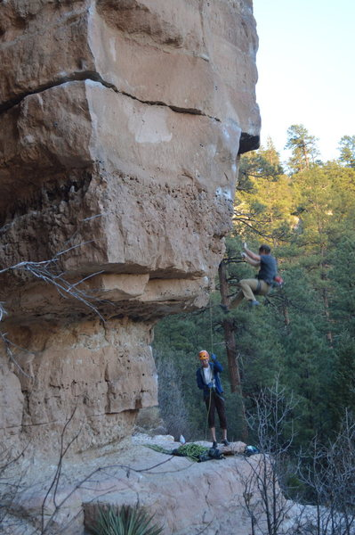 Rock Climbing Photo: Falling on the lower crux