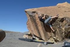 Rock Climbing Photo: Brendan starts up 'dip in the lip'