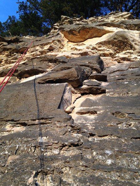 Rock Climbing Photo: Pic taken halfway down rappel
