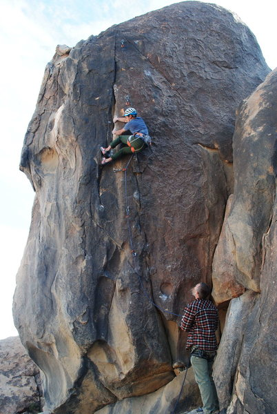 Isamer on the crux.