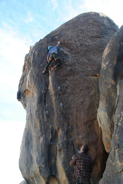 Isamer past the crux.