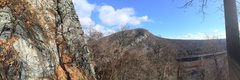 checking out the routes at mount minsi with a view of mount tammany