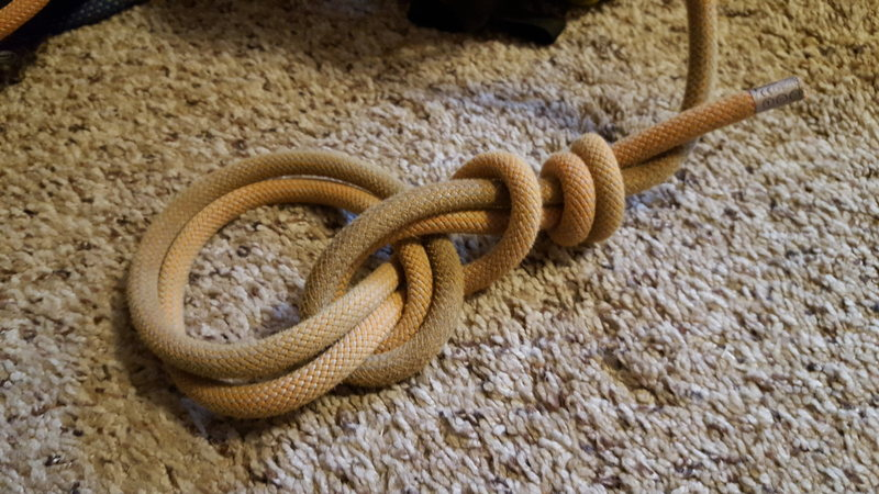 Rock Climbing Photo: I've been tying in with this bowline follow-th...