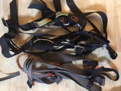 3 old harnesses