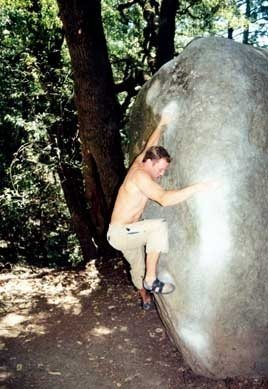 Luke on Hueco Slap, circa 2001.
