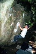 Rock Climbing Photo: John Davis on Hueco Wall, circa 2001.