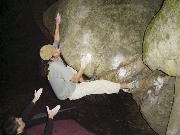 Rock Climbing Photo: Keith Tsujimoto on Coz Daddy (V5), circa 2002.