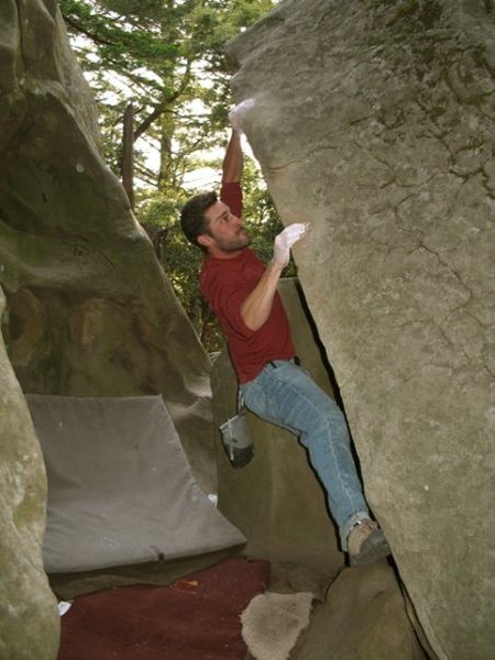 Evan R. on Duct Tape (V4), circa 2002.