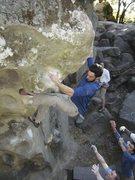 Rock Climbing Photo: Evan R. on North Shore circa 2002.
