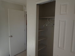 Rock Climbing Photo: Bedroom closet (built-in shelves on both ends)