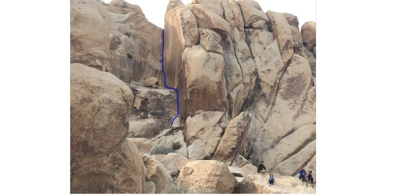 Rock Climbing Photo: Easy striking book corner line from campsite 1