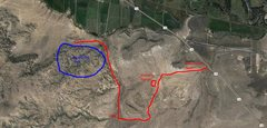 Rock Climbing Photo: Map to get to the bouldering area. I went down Rif...