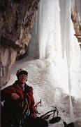 Rock Climbing Photo: Stewart Falls Belay cave 2002?