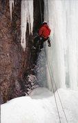 Rock Climbing Photo: Rapping Stewart Falls, 2002?