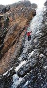 Rock Climbing Photo: Myself on Yellow Rapture, Maple, 2001
