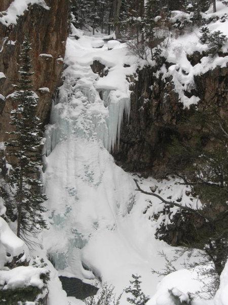 Rock Climbing Photo: Soloed Bullion falls 2015
