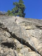 Rock Climbing Photo: Zap crack from the bottom of the route, can rap do...