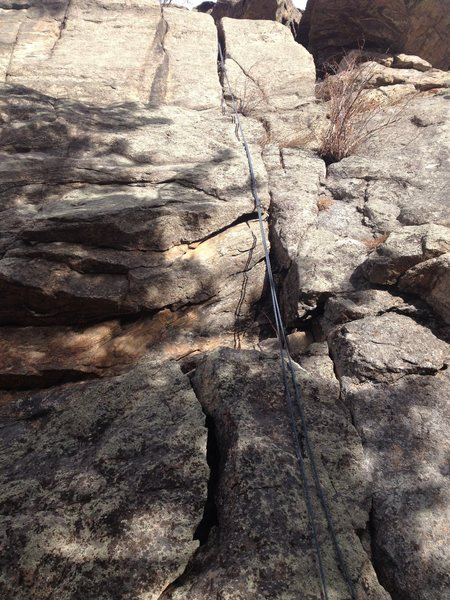 Rock Climbing Photo: A close up of the route.