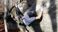 Rock Climbing Photo: Keith getting the painful fingerlock