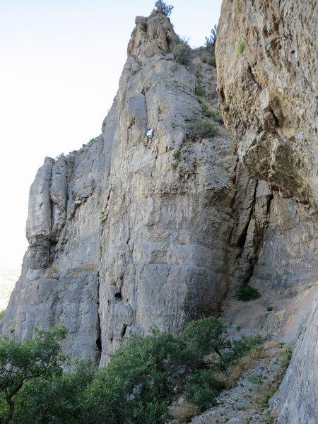 Rock Climbing Photo: Walt after the traverse.