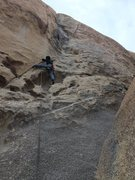 Rock Climbing Photo: Bob leading Colorado.