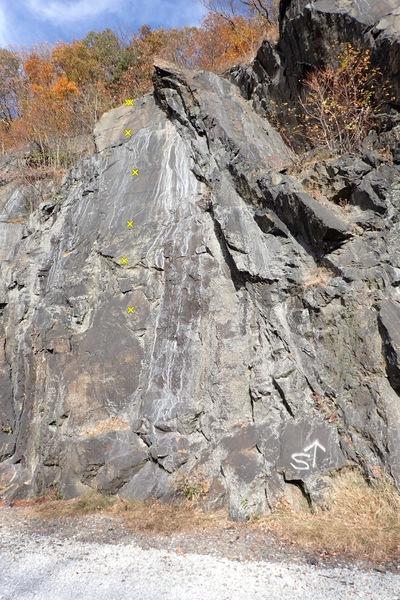 Rock Climbing Photo: Black is Power (5.10a/b)