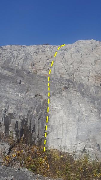Rock Climbing Photo: Climb up the 2' right facing corner then sail ...