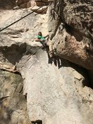 Rock Climbing Photo: Will styling his way up White Gold, Sand Rock, AL.