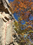 Rock Climbing Photo: The lower crack and upper face section on White Go...