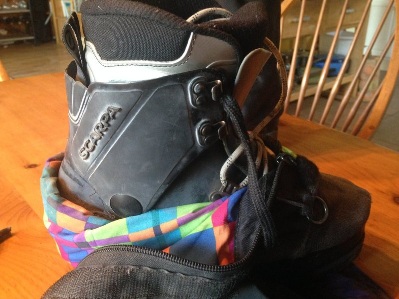 Rock Climbing Photo: Scarpa Plastic Boots 2