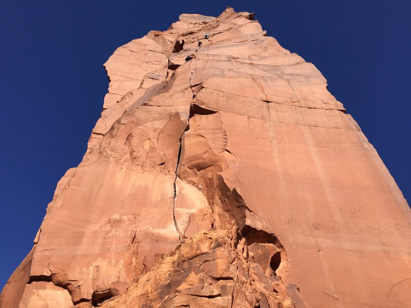 Rock Climbing Photo: Unknown climbers on Fine Jade, 11/26/2016
