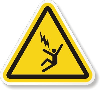 Electrocution warning symbol