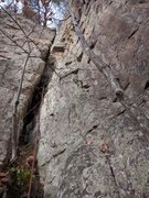 Rock Climbing Photo: Cam yo bad self inside the wide crack! (Well...at ...