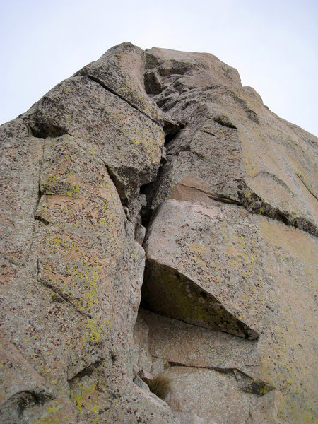 Rock Climbing Photo: Looking up from the base of the last pitch