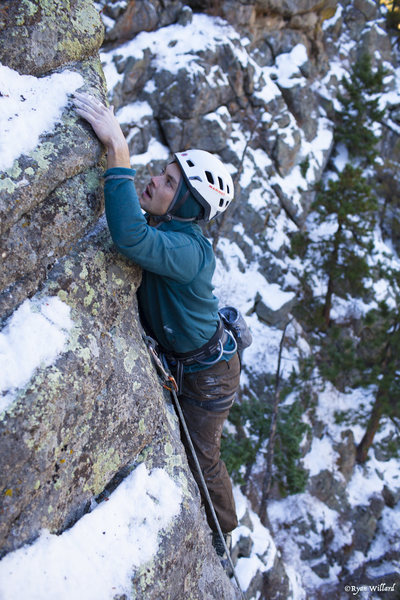 Rock Climbing Photo: Todd Bol on an early attempt of Cross Your Mind af...