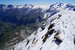 Rock Climbing Photo: The final snow/ice slope, Dach as seen from the su...