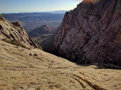 Rock Climbing Photo: Looking down at the approach slabs, described in s...