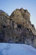 Rock Climbing Photo: Close-up view of the initial headwall.