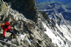 Rock Climbing Photo: Looking down the Lower Moseley Slabs from the Solv...