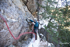 Rock Climbing Photo: Todd Searching for the Lost Highway on a cold wint...