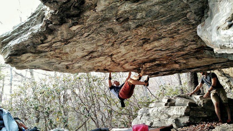 Rock Climbing Photo: Swinging on the Circus Roof